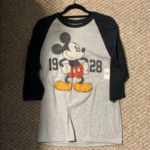 Disney three quarter sleeve shirt